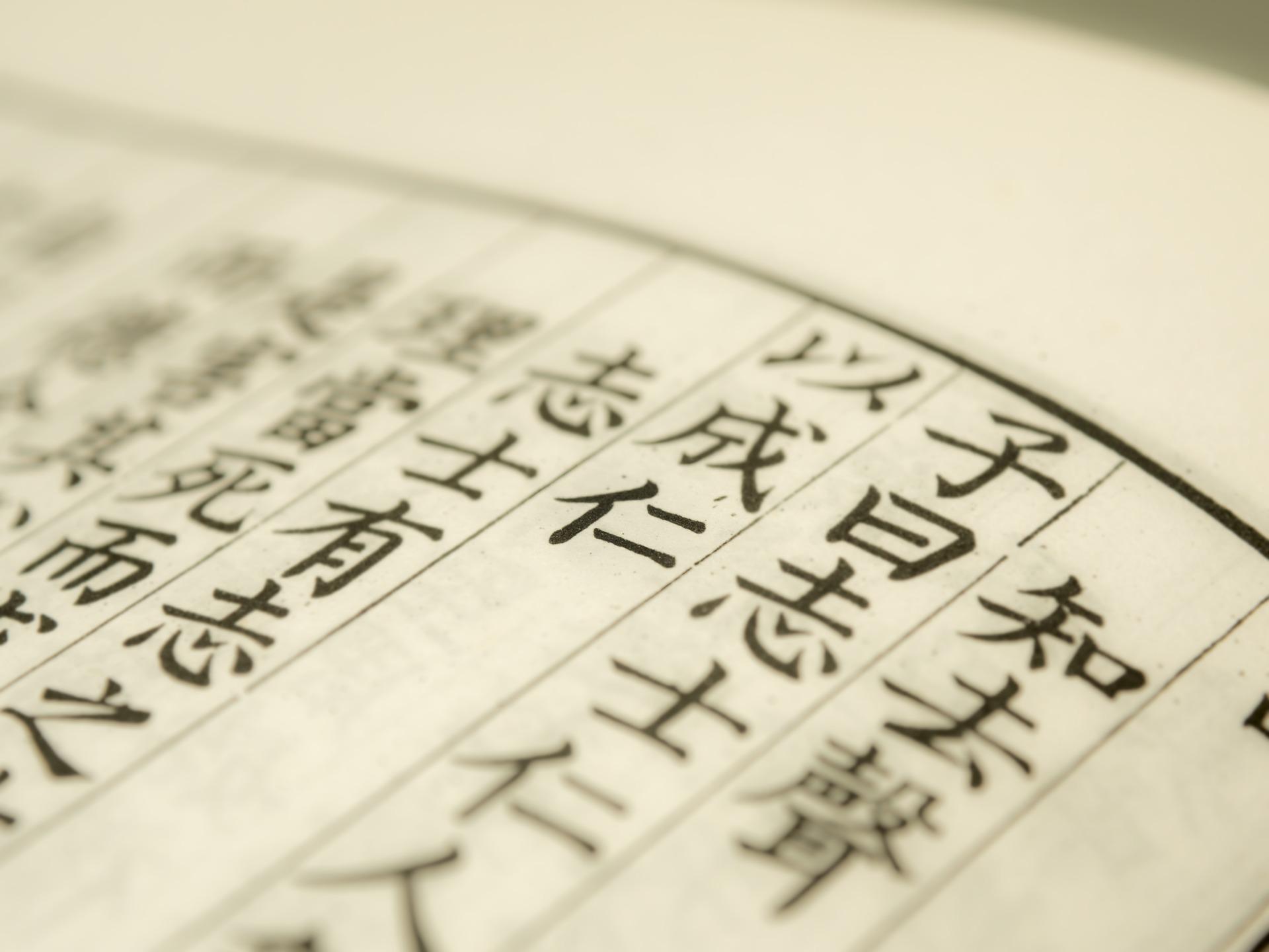 漢文が書かれた本