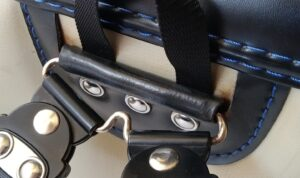 6年使用後の池田屋のランドセル、肩ベルト付け根